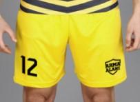 sarı halı saha futbol şortu