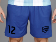 sax mavi halı saha futbol şortu